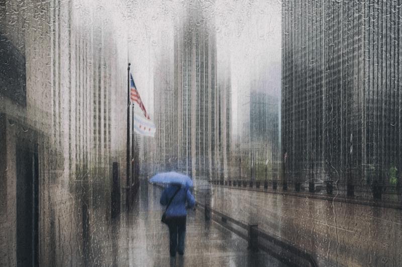 Roswitha Schleicher-Schwarz rain in Chicago