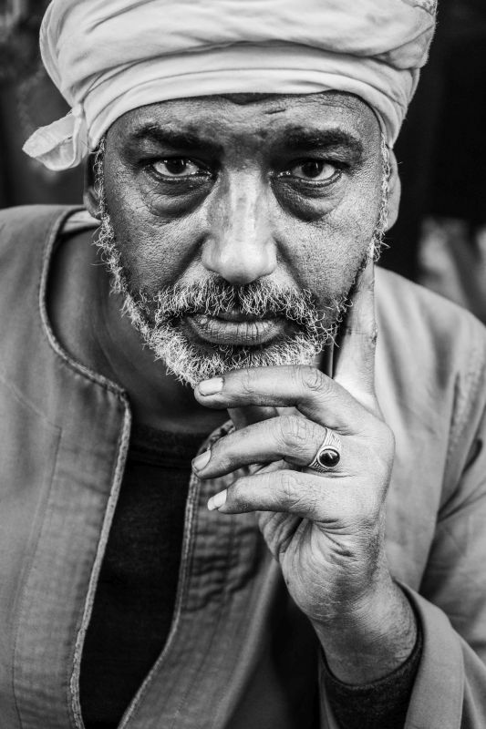 Portrait Of An Egyptian Man, Pinzone  Riccardo , Italy