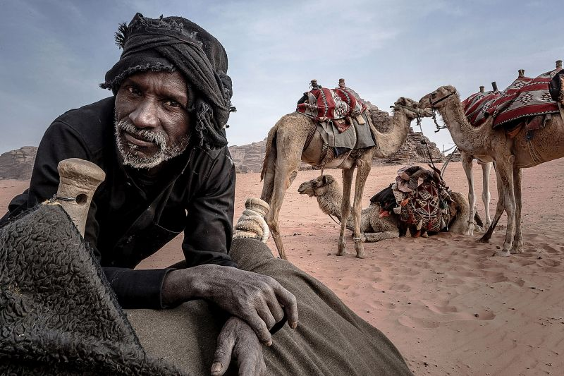 The Bedouin An His Camels, Pinzone  Riccardo , Italy