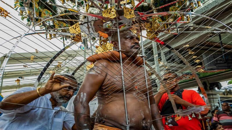 Thaipusam Devotee Body Piercing, Lee  Meng Chew , Singapore
