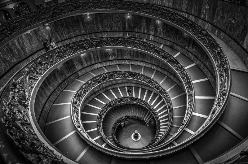 Spiral Staircase, Nawab  Rana Jabeen , India