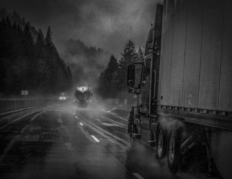 Truckers Rainy Day, Christman  Robert , Usa