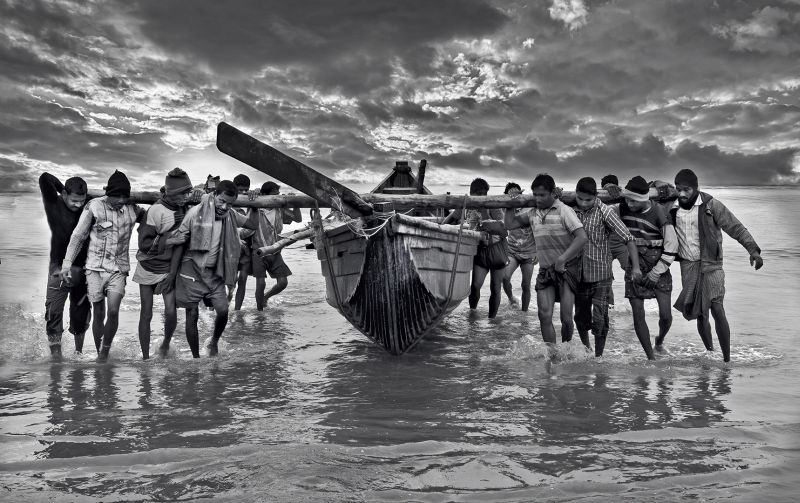 Fishermen Return, Mitra  Piyali , India
