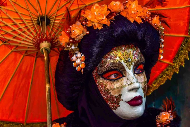 Closeup Of Geisha Mask 2, Mazansky  Cyril , Usa