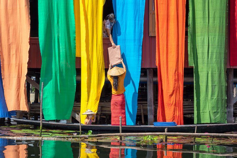 Colorful Fabrics, Htet  Hein , Singapore
