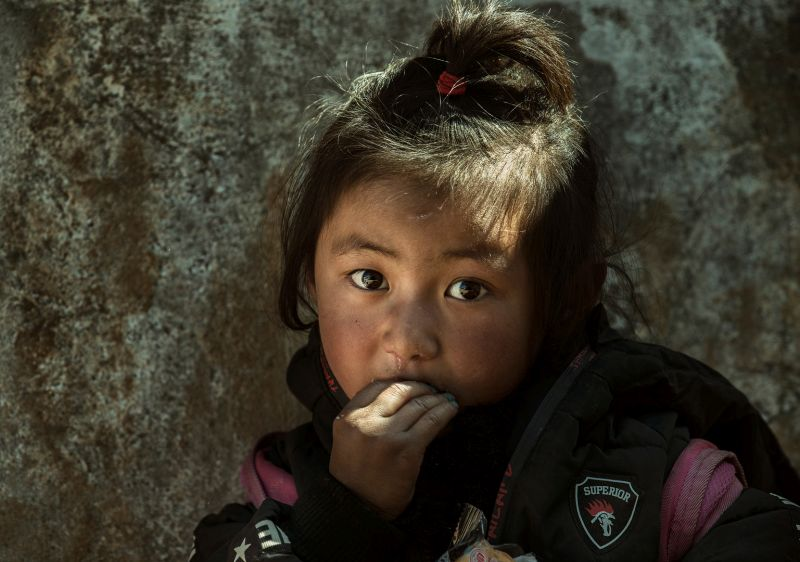 Little Girl In The Mountain, Mao  Yafeng , China