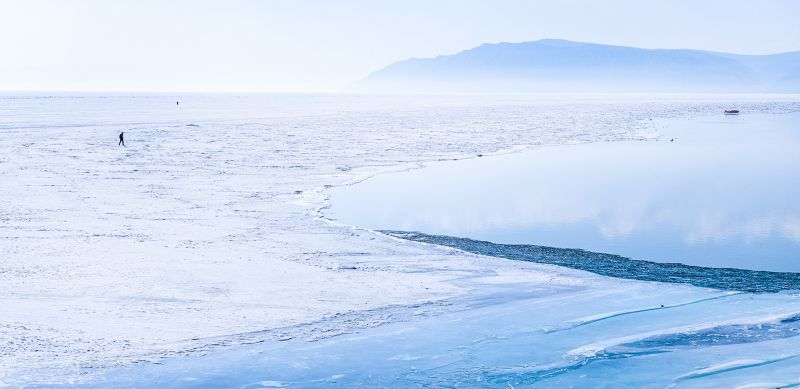 Edge Of Ice Lake, Song  Jinzi , China