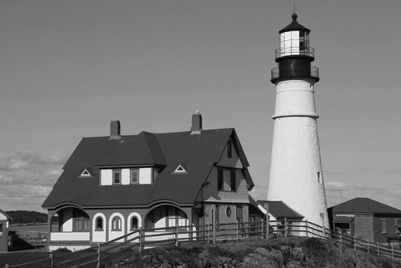 Maine Lighthouse, Johnson  Norman , Usa