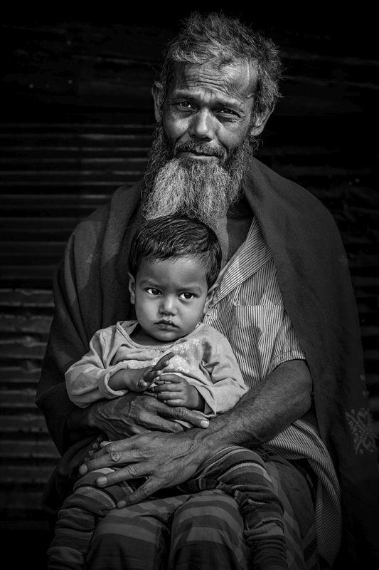 Grandpa And Grandchild, Xu  Yuefan , China